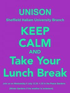 UNISONSHU-poster-take-a-lunch-break