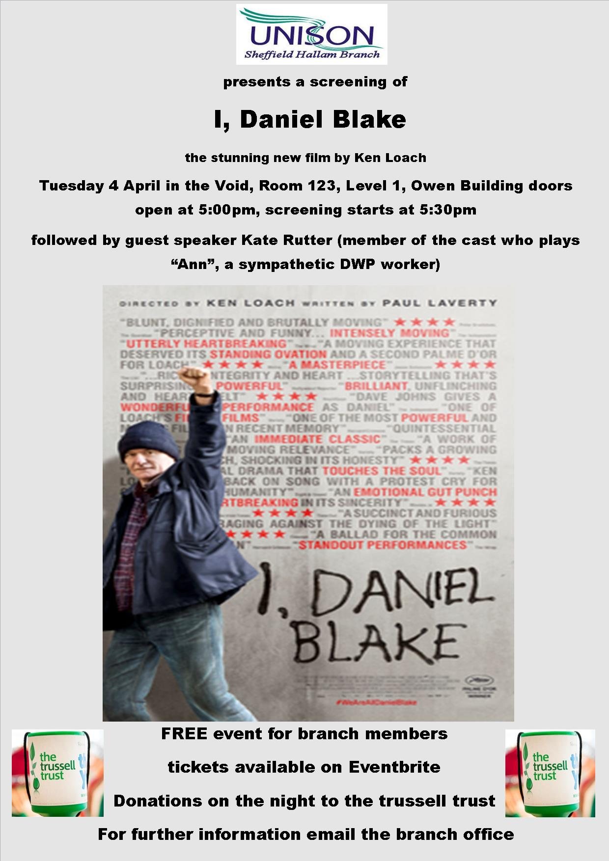I daniel blake poster NO LINKS